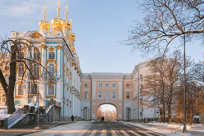Пушкин (Екатерининский дворец, янтарная комната) с Царскосельским Лицеем